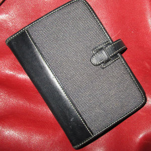 COACH LEATHER DAYPLANNER WITH CALENDAR MINI